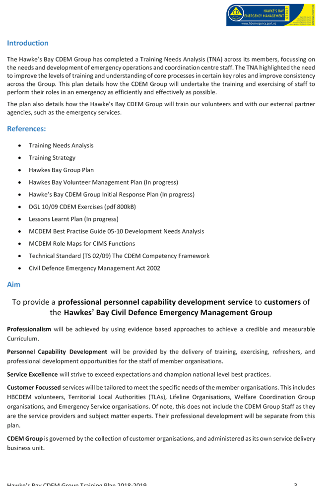 Agenda of HB Civil Defence Emergency Management Group - 27